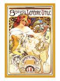 Biscuits Lefevre-Utile Wallstickers af Alphonse Mucha