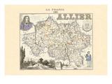 Allier Wandtattoo von Alexandre Vuillemin