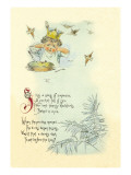 Sing a Song of Sixpence Wall Decal by Maud Humphrey