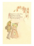 Tommy Snooks and Betsey Brooks Wall Decal by Maud Humphrey