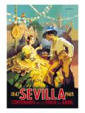Sevilla Centenario de la Feria de Abril Autocollant mural par Newell Convers Wyeth