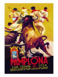 Pamplona, San Fermin Wallstickers af Charles Dana Gibson