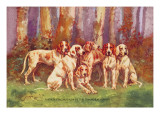 French Staghounds of the Chambray Strain Wall Decal by Baron Karl Reille