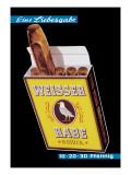 Weisser Rabe Cigars Wall Decal by Hugo Laubi