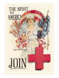 The Spirit of Americ Join Veggoverføringsbilde av Howard Chandler Christy
