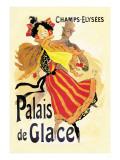 Champs-Elysees: Palais de Glace Wallstickers af Jules Chéret