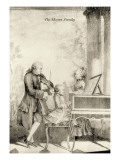The Mozart Family Wall Decal