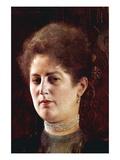 Portrait of a Woman Wandtattoo von Gustav Klimt