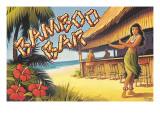 Bamboo Bar - Hawaï Autocollant mural par Kerne Erickson