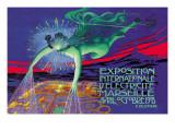 Exposition Internationale d'Electricite, Marseille Väggdekal av David Dellepiane