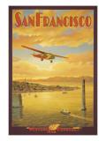Western Air Express, San Francisco, Californie Autocollant mural par Kerne Erickson