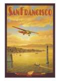 Western Air Express, San Francisco, California Muursticker van Kerne Erickson
