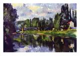 Marne Shore Seinätarra tekijänä Paul Cézanne