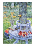 Mrs. Hassam's Garden Wall Decal by Childe Hassam