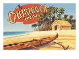 Outrigger Inn, Hawaii Autocollant mural par Kerne Erickson