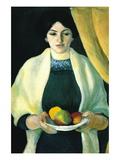Portrait with Apples (Portrait of The Wife of The Artist) Decalcomania da muro di Auguste Macke