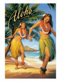 Aloha, Hawaii Wallstickers af Kerne Erickson