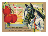 """Crete Label """"Apple"""" Autocollant mural par Kerne Erickson"""