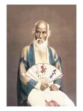 Old Man with a Fan Wandtattoo von Baron Von Raimund Stillfried