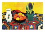 Still Life with Hyacinthe Wallstickers af Auguste Macke