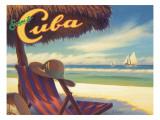 Escape to Cuba Autocollant mural par Kerne Erickson