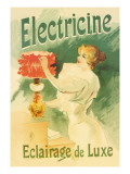 Electricine, Luxury Lighting Wall Decal by Lucien Lefevre