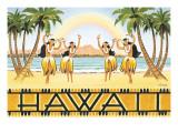 Rainbow Hawaii Adesivo de parede por Kerne Erickson