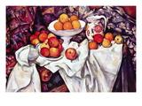 Still Life with Apples and Oranges Seinätarra tekijänä Paul Cézanne