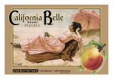 """Crate Label """"Peaches"""" Veggoverføringsbilde av Kerne Erickson"""