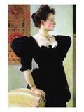 Portrait of Marie Breunig Wandtattoo von Gustav Klimt