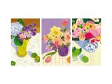 Floral Watercolors Triptych Vinilo decorativo