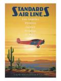 Standard Airlines, El Paso, Texas Muursticker van Kerne Erickson