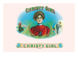 Christy Girl Cigars Wall Decal by Howard Chandler Christy