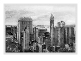 Financial District, 1911 Wall Decal by Moses King