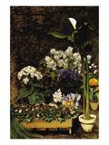 Mixed Spring Flowers Wandtattoo von Pierre-Auguste Renoir