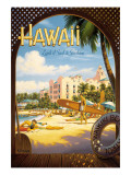 Hawaii, Land of Surf and Sunshine Wall Decal by Kerne Erickson
