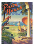 Palm Beach, Florida Autocollant mural par Kerne Erickson