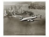 Lockheed Constellation, New York 1950 Wallstickers af Clyde Sunderland