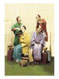 Shave and a Topknot Prepared Wandtattoo von Baron Von Raimund Stillfried