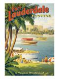 """Erickson """"Fort Lauderdale"""" Autocollant mural par Kerne Erickson"""