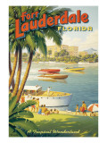 Fort Lauderdale (tamaño reducido) Vinilo decorativo por Kerne Erickson
