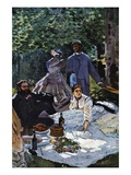 The Breakfast Outdoors, Central Section Wall Decal by Claude Monet