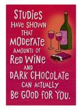 Wine and Chocolate Seinätarra
