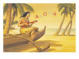 Aloha Serenade Adesivo de parede por Kerne Erickson