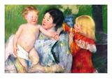Après le bain Autocollant mural par Mary Cassatt