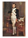 Portrait of Napoleon In His Work Room Decalcomania da muro di Jacques-Louis David