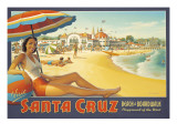 Erickson «Santa Cruz» Autocollant mural par Kerne Erickson