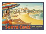 Visit Santa Cruz Adesivo de parede por Kerne Erickson