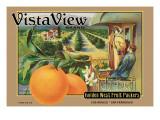 """Crate Label """"Orange"""" Veggoverføringsbilde av Kerne Erickson"""