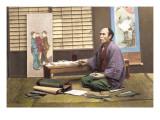 Portrait of a Japanese Artist Wandtattoo von Baron Von Raimund Stillfried